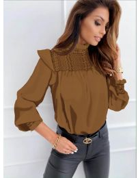 Блуза - код 6202 - кафеава