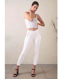 Панталони - код 733 - 3 - бела