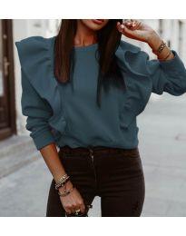 Блуза - код 3890 - тиркизна
