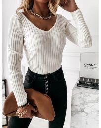 Блуза - код 4121 - бела