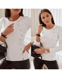 Блуза - код 9003 - бело