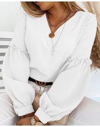 Блуза - код 5565 - 1 - бело