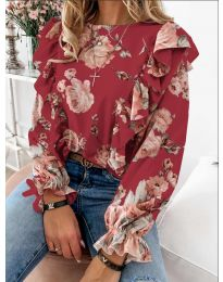 Блуза - код 4256 - црвена