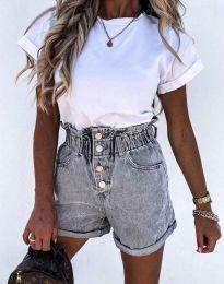 Кратки панталони - код 5301 - 3 - сиво
