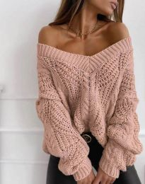 Блуза - код 1637 - пудра