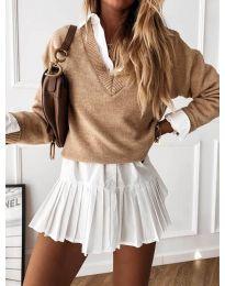Блуза - код 6012 - капучино