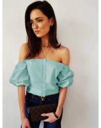 Блуза - код 243 - тиркизна