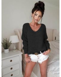 Блуза - код 8768 - црна