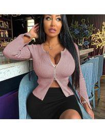 Блуза - код 3991 - пудра
