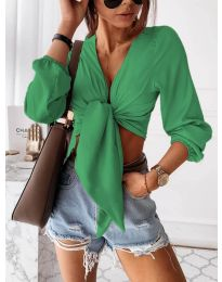 Блуза - код 1059 - зелена