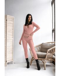 Дамски гащеризон рипс в розово - код 6414