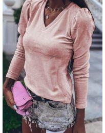 Блуза - код 0755 - пудра