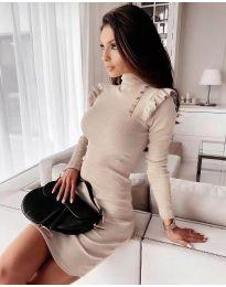 Фустан - код 8484 - кремова