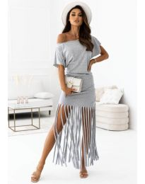 Фустан - код 12003 - сиво