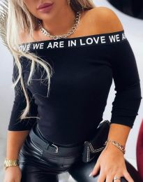 Блуза - код 4329 - црна