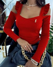 Блуза - код 2380 - 6 - црвена