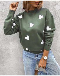 Блуза - код 3280 - 4 - зелена