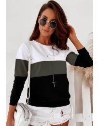 Блуза - код 9966 - 1 - шарена