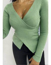 Блуза - код 6322 - зелена