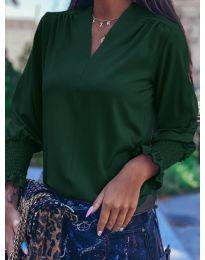 Блуза - код 4549 - путер зелена