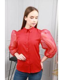 Блуза - код 0633 - 4 - црвена