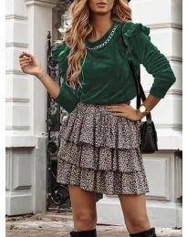 Блуза - код 4948 - путер зелена