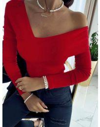 Блуза - код 5343 - 2 - црвена