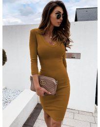 Фустан - код 4040 - кафеава