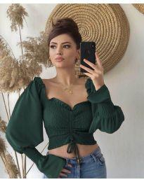 Блуза - код 896 - путер зелена