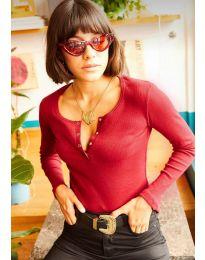 Блуза - код 11495 - 2 - црвена