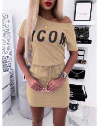 Фустан - код 9905 - кремова
