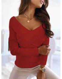 Блуза - код 0308 - 4 - црвена