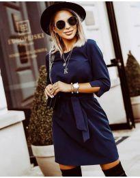 Фустан - код 6100 - темно сина