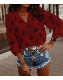 Блуза - код 6650 - црвена
