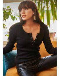 Блуза - код 11495 - 4 - црна