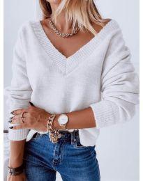 Блуза - код 6012 - бело