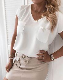 Блуза - код 6306 - 1 - бела