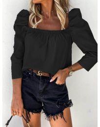 Блуза - код 9906 - црна