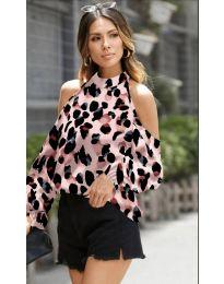 Блуза - код 1193 - розова