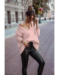 Џемпер - код 5952 - розова