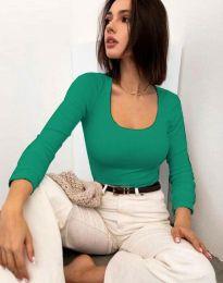 Блуза - код 11662 - зелена