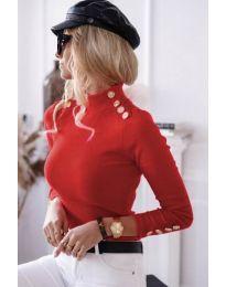 Блуза - код 6343 - 3 - црвена
