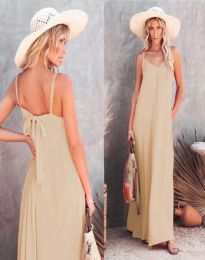 Фустан - код 4673 - кремова