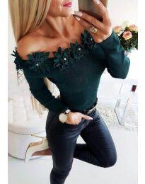 Блуза - код 2882 - зелена