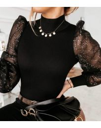 Блуза - код 3522 - црна