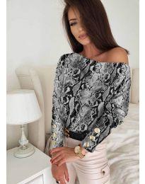 Блуза - код 5156 - 7 - шарена