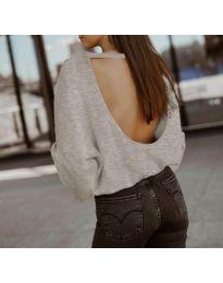 Блуза - код 2666 - кремова