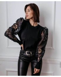Блуза - код 3528 - црна