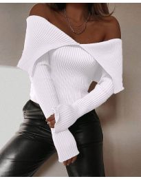 Блуза - код 5222 - бело