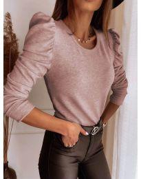 Блуза - код 9556 - пудра